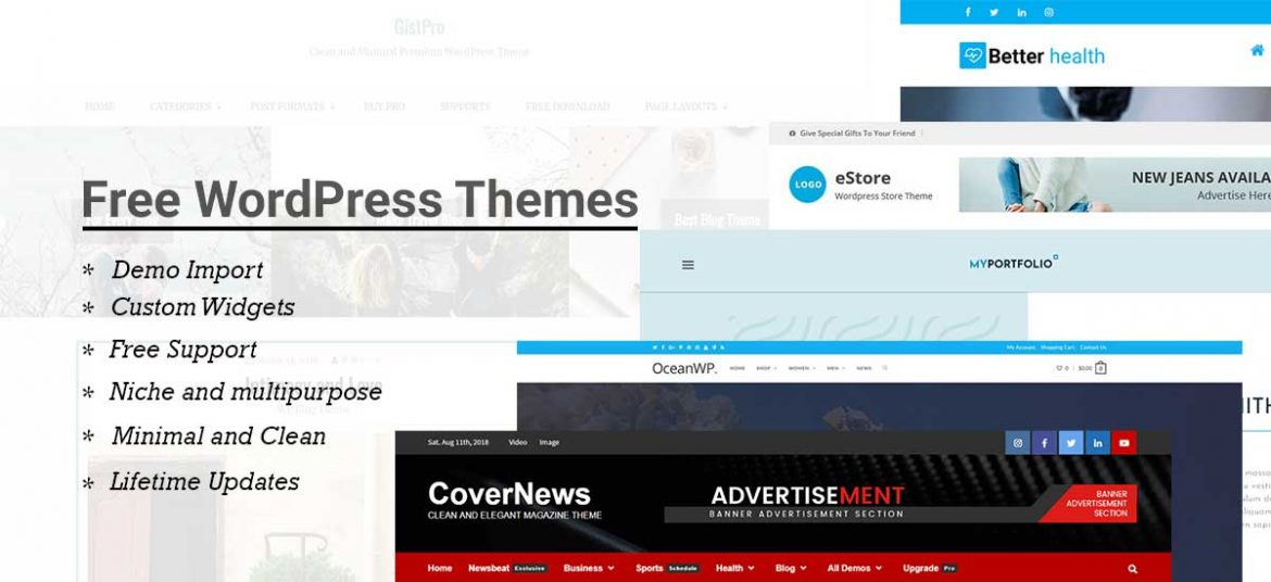 10+ Free WordPress Themes and Templates For 2019