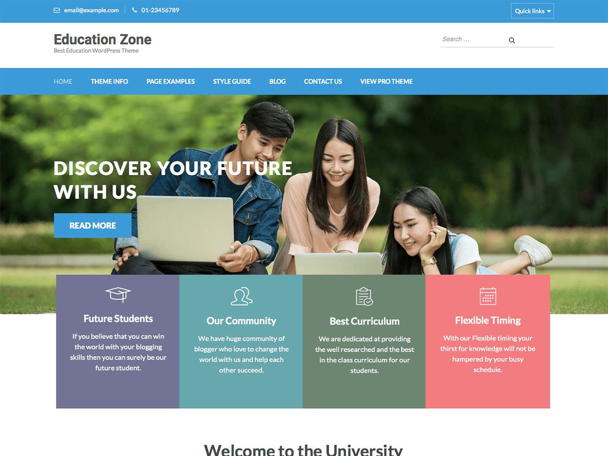 Free WordPress themes education zone