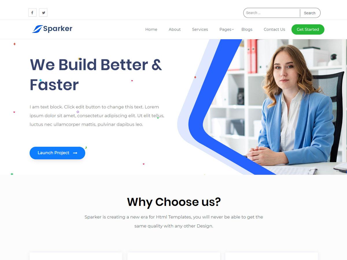 Sparker Free WordPress Themes