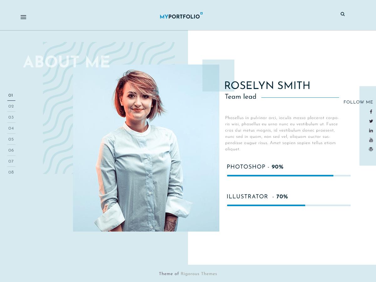 Free WordPress Themes RT Portfolio