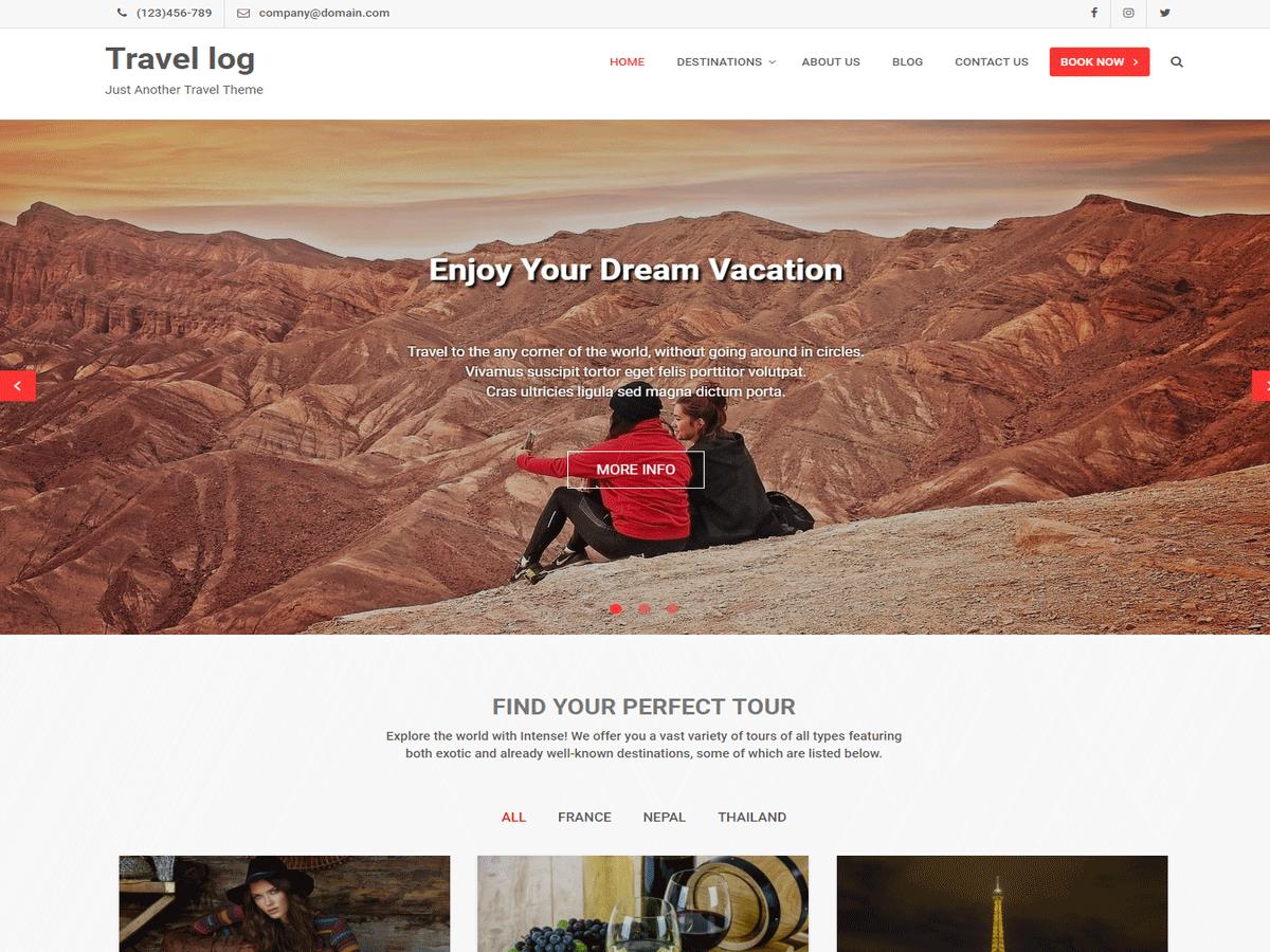Free WordPress Themes Travel Log