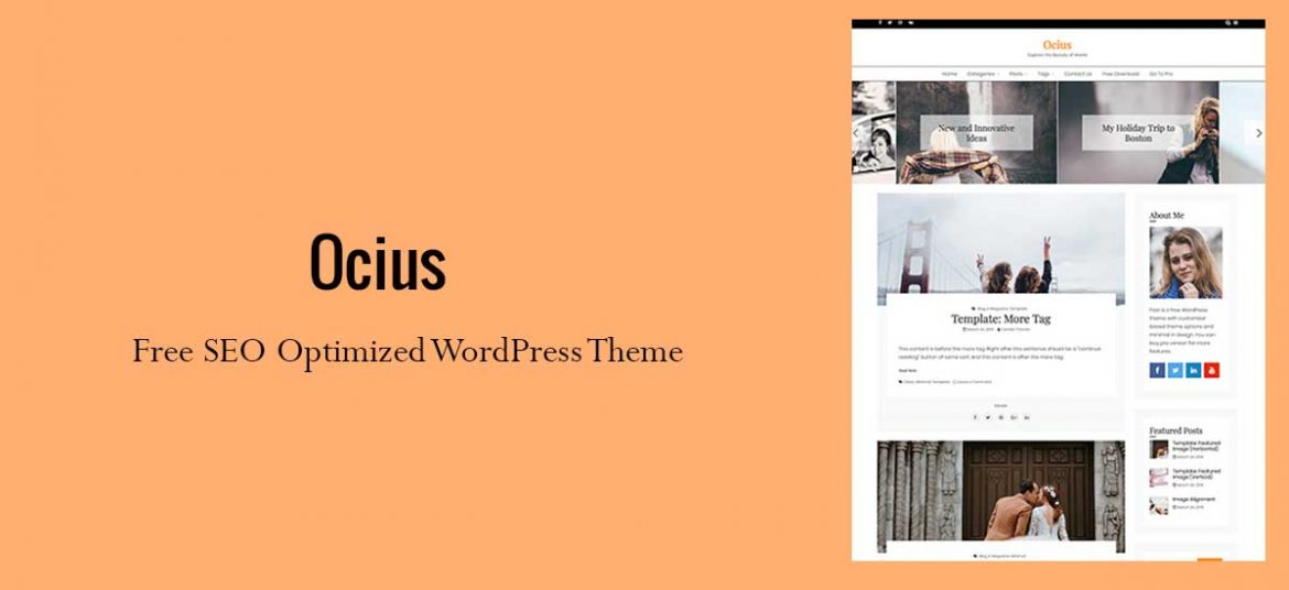 Ocius – Free Search Engine Optimized WordPress Theme