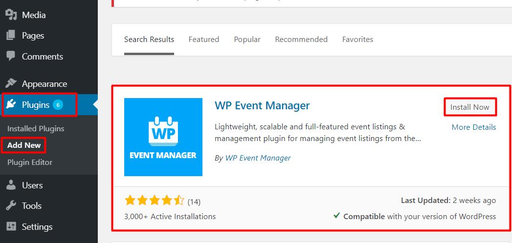 Event Management WordPress Plugin
