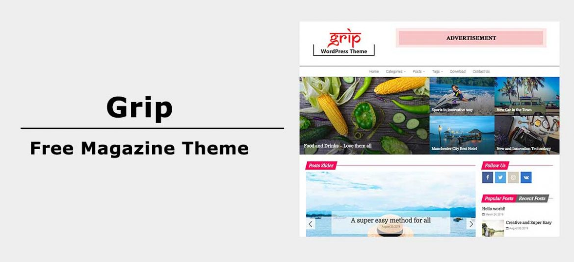 Introducing Grip – Free WordPress Magazine Theme for 2020