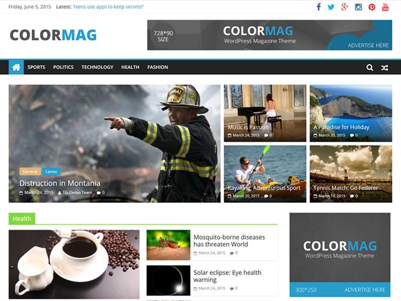 free magazine themes for Magazine