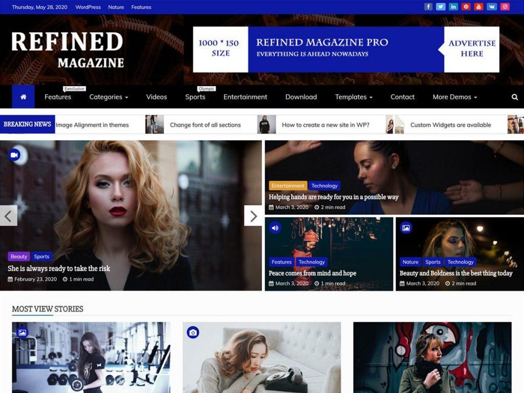 Refined Magazine WordPress Magazine Theme