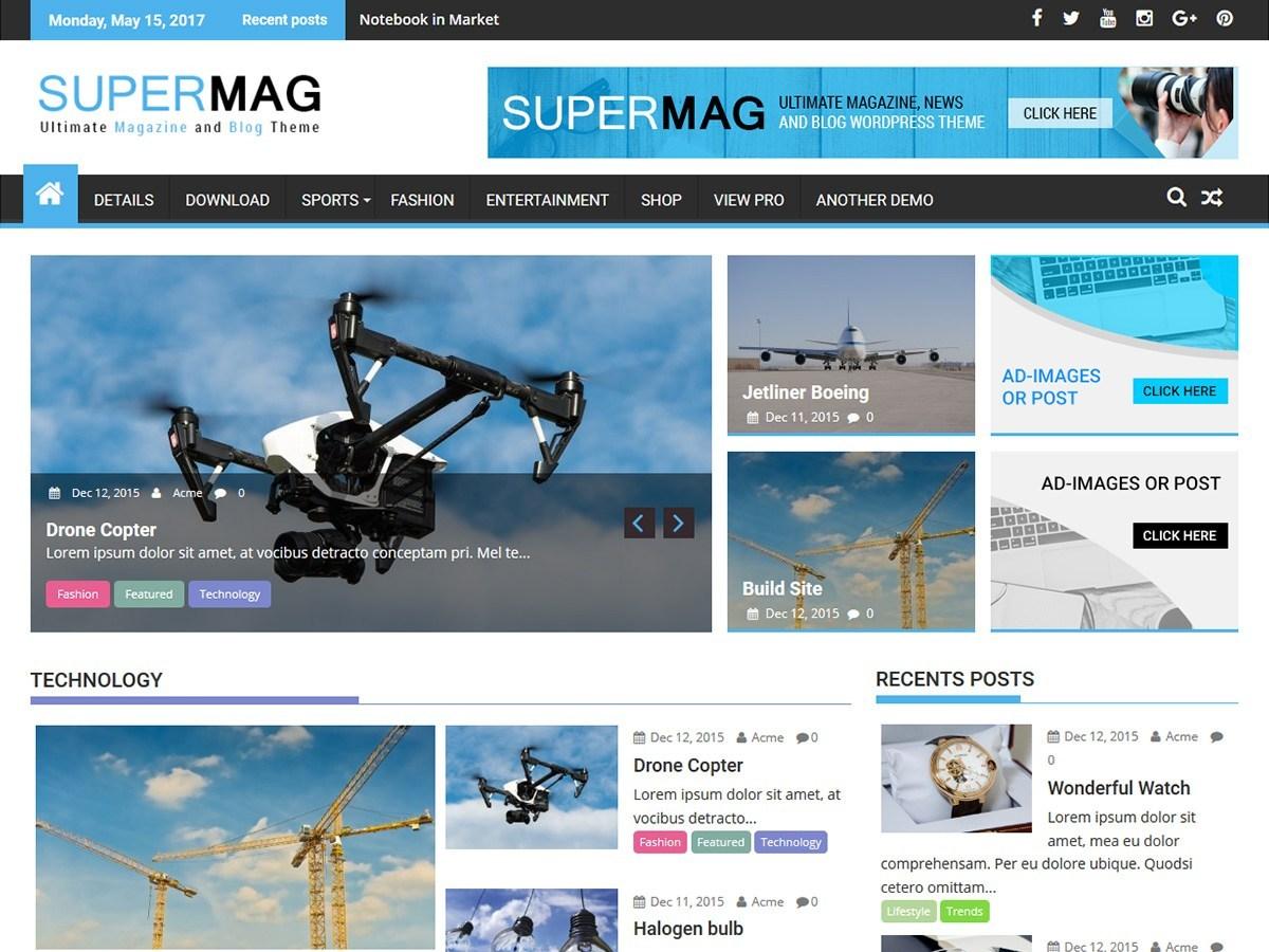 free WordPress themes for Magazine