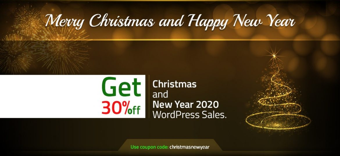 Christmas and New Year WordPress Sales For 2020 – Buy all themes on 30% Off