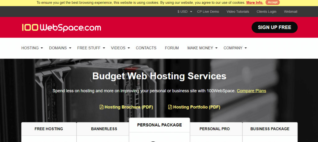 100webspace free WordPress Hosting