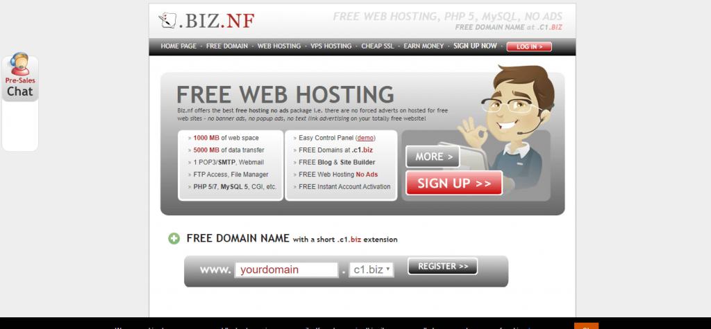 biz.nf free WordPress Hosting