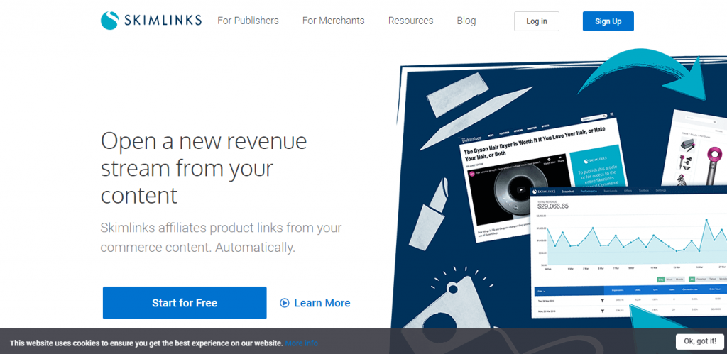 skinlinks Google AdSense alternative for WordPress Website