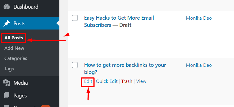change the post published date in WordPress