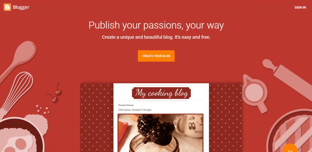 Blogger blogging platform