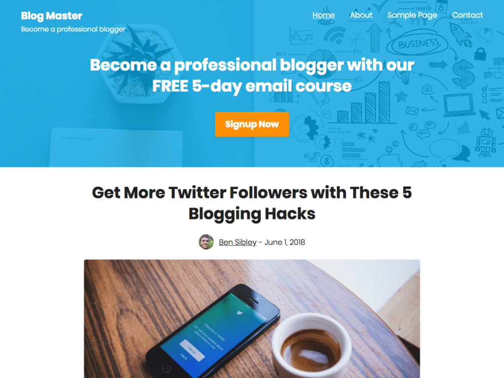 Challenger WordPress Blog theme