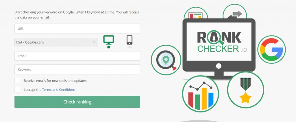 Rank Checker Tool for WordPress Websites