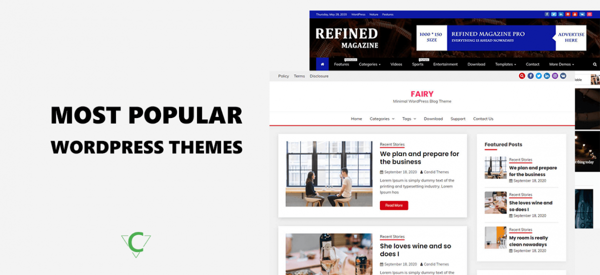 Most Popular Free WordPress Themes and Templates for 2020