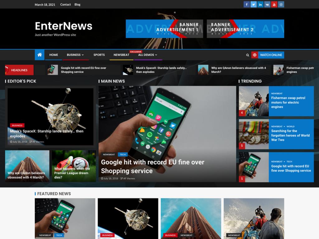 EnterNews Magazine Theme