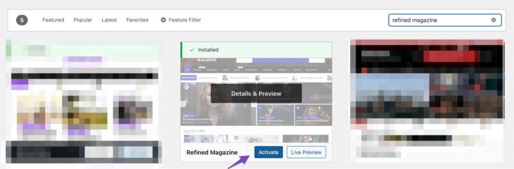 Refined Magazine Search