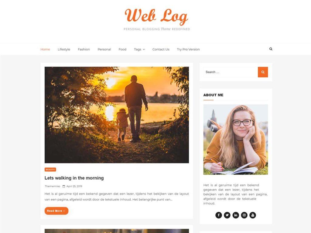 Web Log Blog Theme