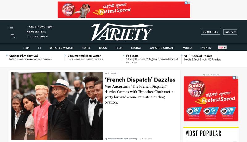 Variety WordPress Site