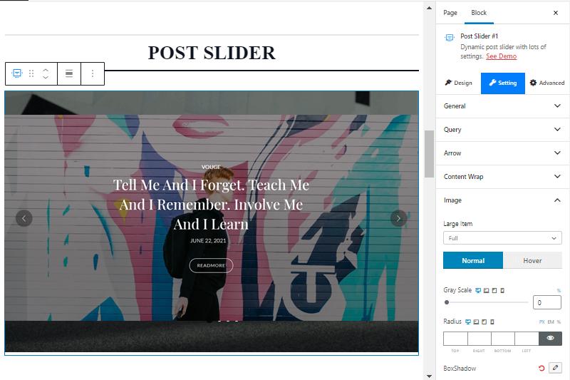 Post Slider PostX