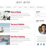responsive WordPress theme gist grid