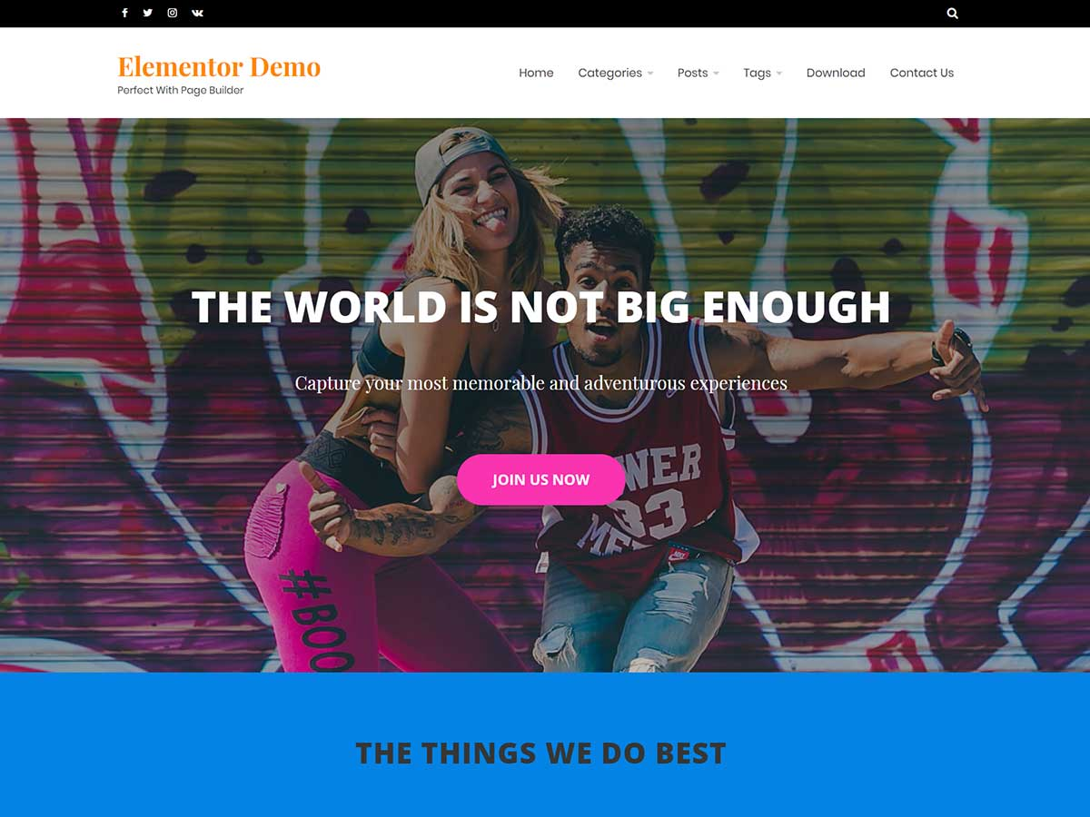 OciusPro – Premium WordPress Theme Elementor Demo