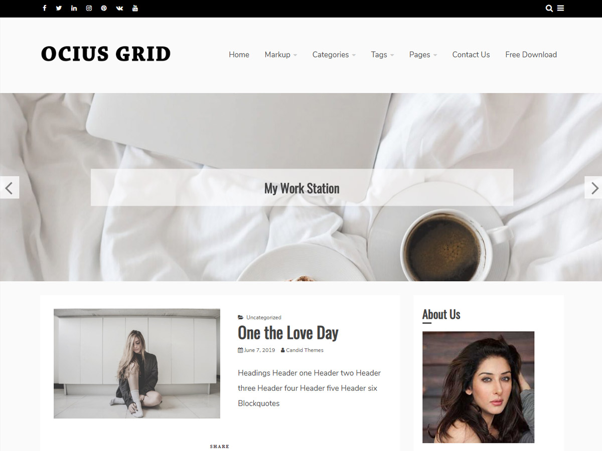 Ocius Grid Screenshot