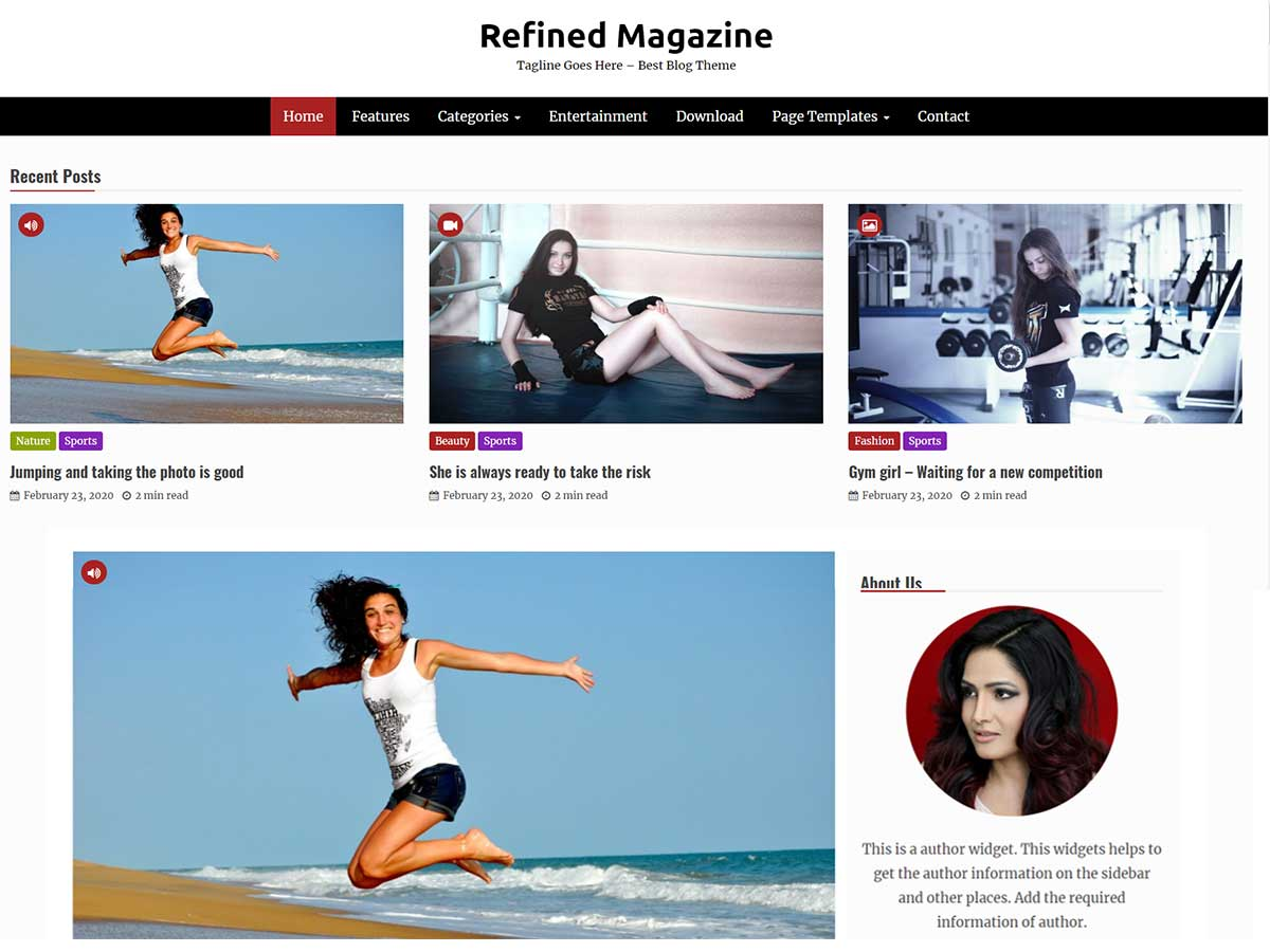 Refined Magazine Pro – Premium Magazine WordPress Theme Blog Demo Pro