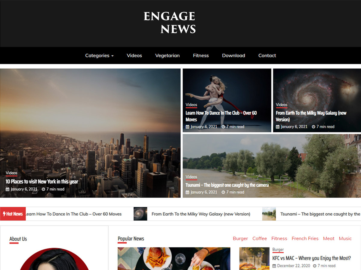 Engage News Pro – Premium Magazine Theme Boxed Demo